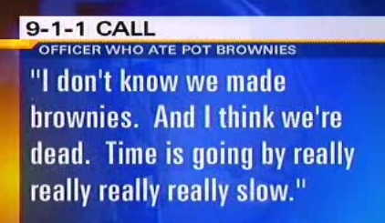 Cop Pot Brownies