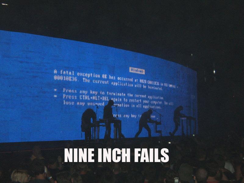 Nine Inch Nails computer crash