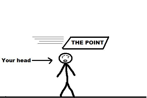 the point your head