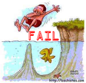 Fail - Jumping in Water
