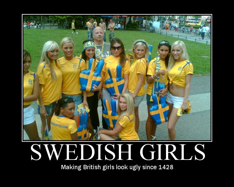 Demotivational - Swedish Girls - Threadbombing