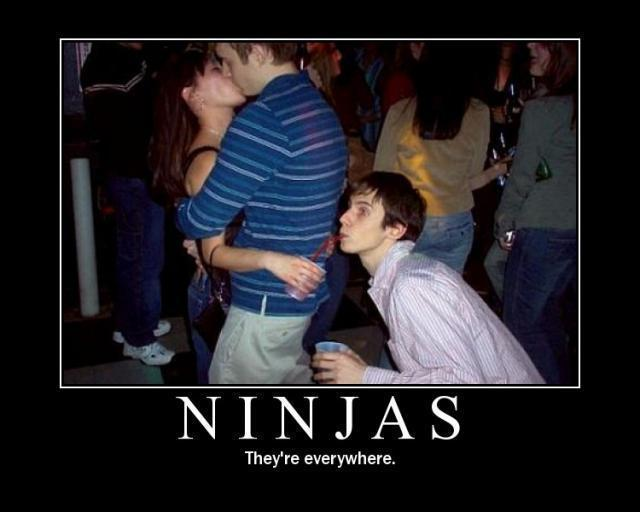 Funny Pics / Ninjas, they're everywhere