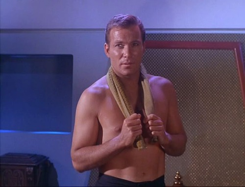 captain kirk shirtless