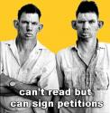 Can't read but can sign petitions