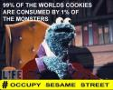 Cookie Monster Occupy Sesame Street